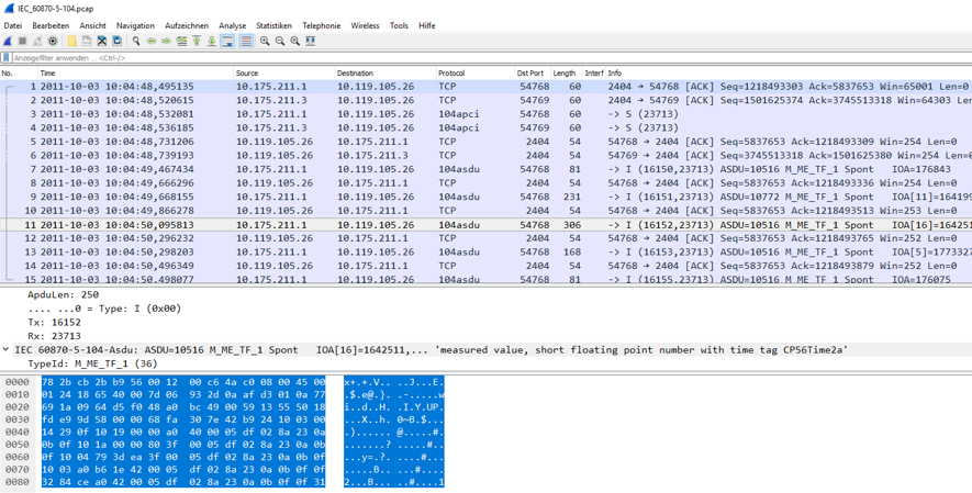 Ansicht Wireshark-Plugin-Modul
